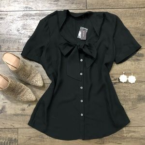 Limited Black Bow Blouse
